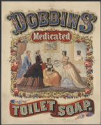 Vintage Travel Poster Dobbins Medicated Soap 1896